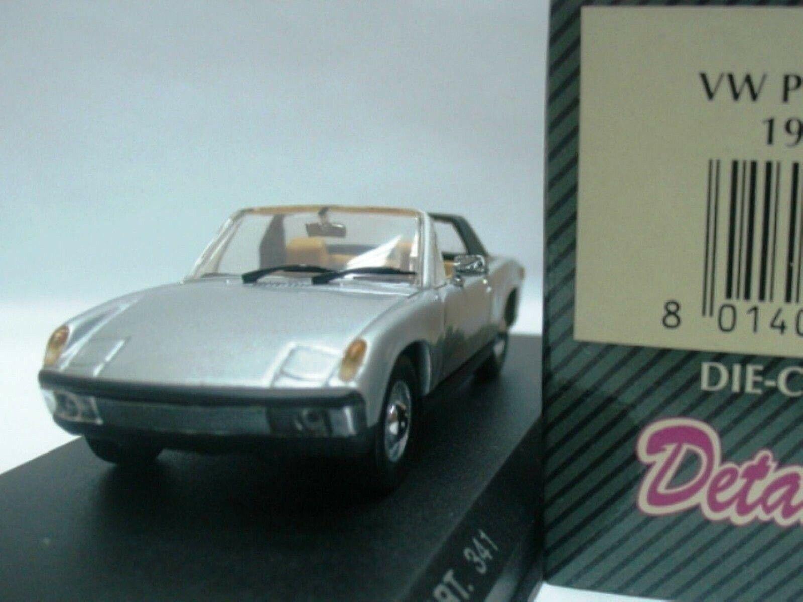 Wow extremadonnate raro Porsche 914 4 Targa 1969 argento 1 43 Detalle-Minichamps - 911 6