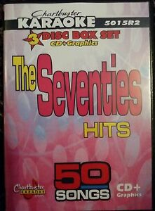 Details about CHARTBUSTER KARAOKE CDG THE SEVENTIES (5015) 3 DISC BOX SET  50 TRACKS NEW