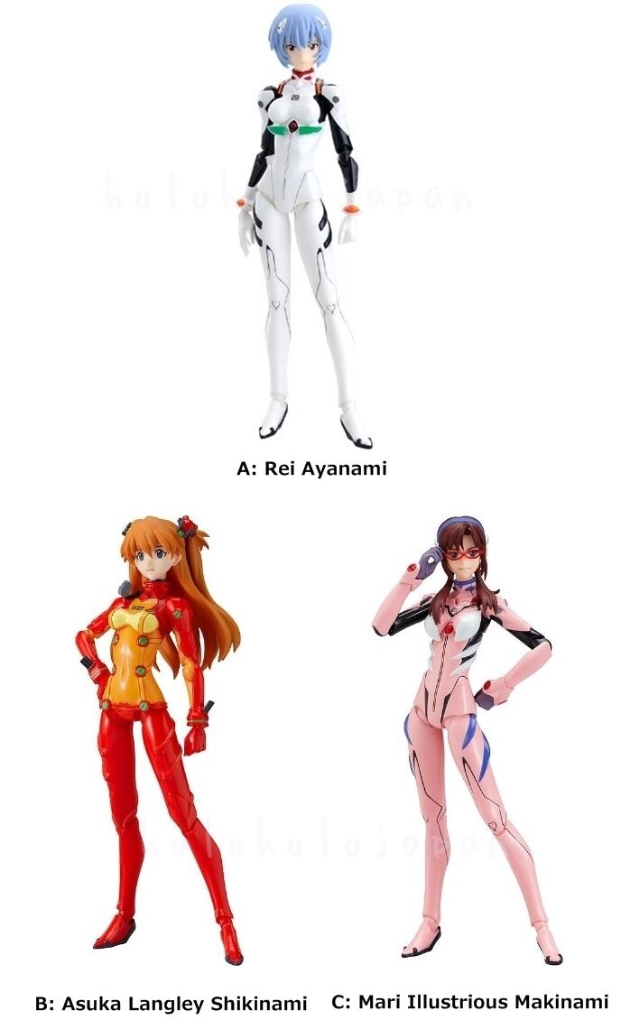 Figma Evangelion Rei Ayanami Asuka Langley Shikinami Mari Illustrious Makinami
