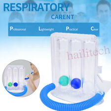 Breathing Exerciser Lung Three Ball Incentive Respiratory Training Spirometer Us