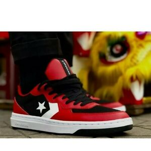 Converse-Rival-Ox-Black-Red-Mens-164895c-US-SIZE-10