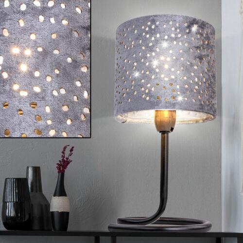 Table Lampe Parapluie poinçons Chambre Projecteur Argent Velours Noir Lampe