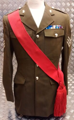 Army Infantry Burgundy Genuine British Army Issued Guards Maroon Sash Faulty