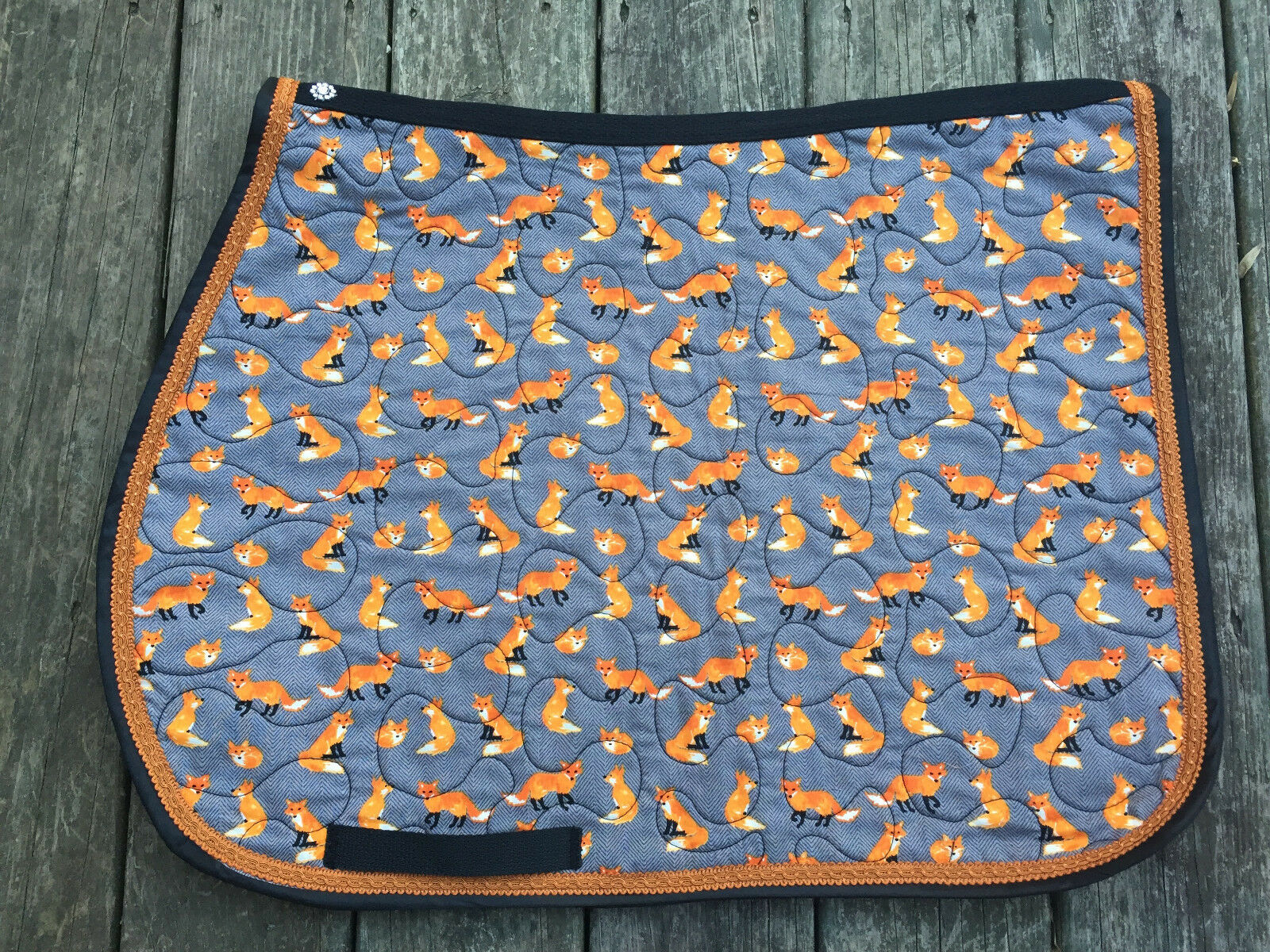 English Saddle Pad in Horse or Pony Size FOX Print