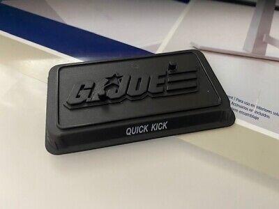 GI Joe 25th Ann Figure Stand Figure Cobra code nom ROC Quick Kick