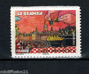 2011-ADHESIF-TIMBRE-FRANCE-NEUF-LA-BRADERIE-DE-LILLE-AUTOCOLLANT-Yt-568a