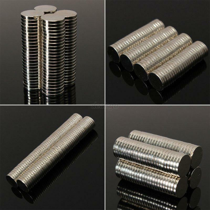 50 100 pcs round disc magnets rare