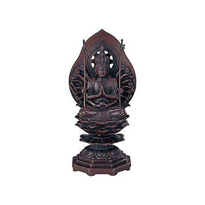 Thousand Armed Avalokiteshwara Japanese Bronze Statue with paulownia wood box