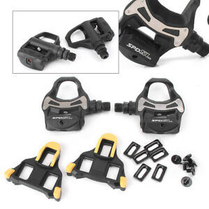 2PCS-Shimano-Bicycle-PD-R550-SPD-SL-Clipless-Road-Bike-Pedals-w-Float-Cleats-cl