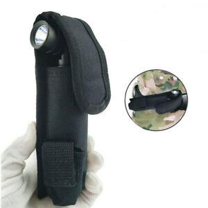 LED Flashlight Torch Lamp Light Holster Holder Carry Case Belt Pouch Nylon Vk