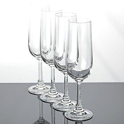 4 Sektgläser Sektkelche 20,7 cm Kristall Gläser