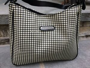 61c6708f6f0c HARDLY USED Ralph Lauren Tote Bag in White   Black Houdstooth Coated ...