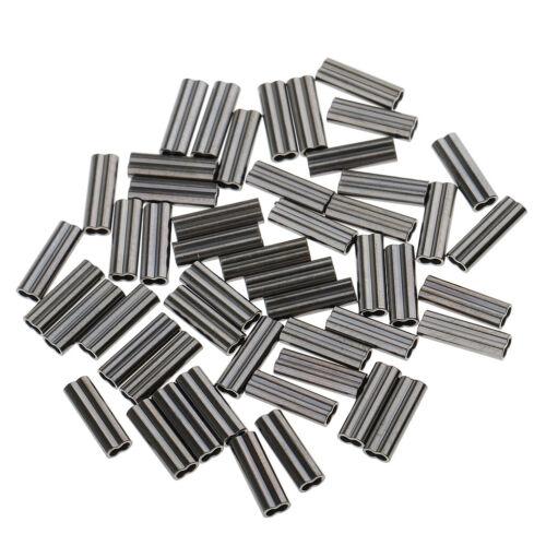 50 Stück Doppel Klemm-Hülsen zur Stahlvorfachanfertigung für Mono und