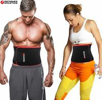 Waist Trimmer Ab Belt For Faster Weight Loss. Includes Free Fully Adjustable ...