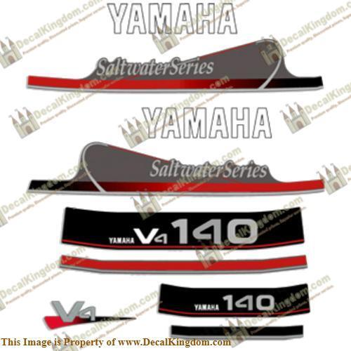 Yamaha 140hp V4 Saltwater  Series Decals  not to be missed!