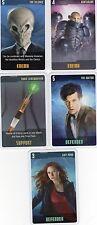 Doctor Who the Card Game 2009 c7e - 5 Art Cards: Amy Pond, Silence, Sontarans