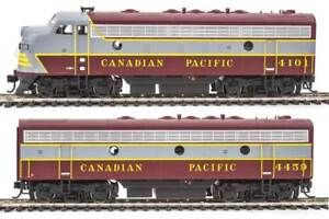 Walthers-Mainline-Canadian-Pacific-CP-4101-4459-EMD-F7A-B-Set-DCC-HO-Scale