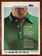 Vintage 1980 Original Print Ad J.C. Penney THE FOX Shirt See You Later Alligator