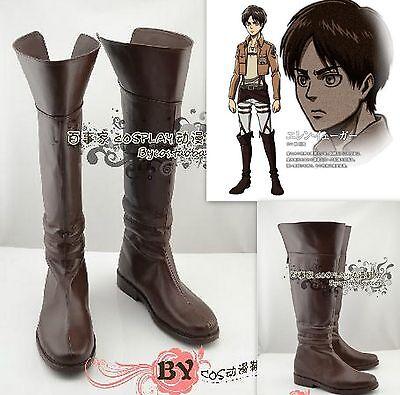 Cosplay Shingeki No Kyojin Attack On Titan Eren Jaeger Schuhe Stiefel Boots