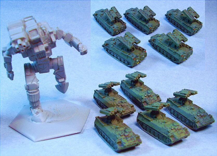 Ghq Miniatures adecuado para Battletech sa-13 Sam (5)