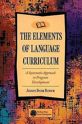 1 of 1 - The Elements of Language Curriculum: A Systematic Approach to Program Developme