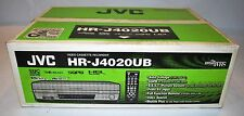 VCR NEW JVC HR-J4020UB VHS 4 HEAD HIGH QUALITY VCR M-PAL NTSC HRJ 4020 UB SILVER