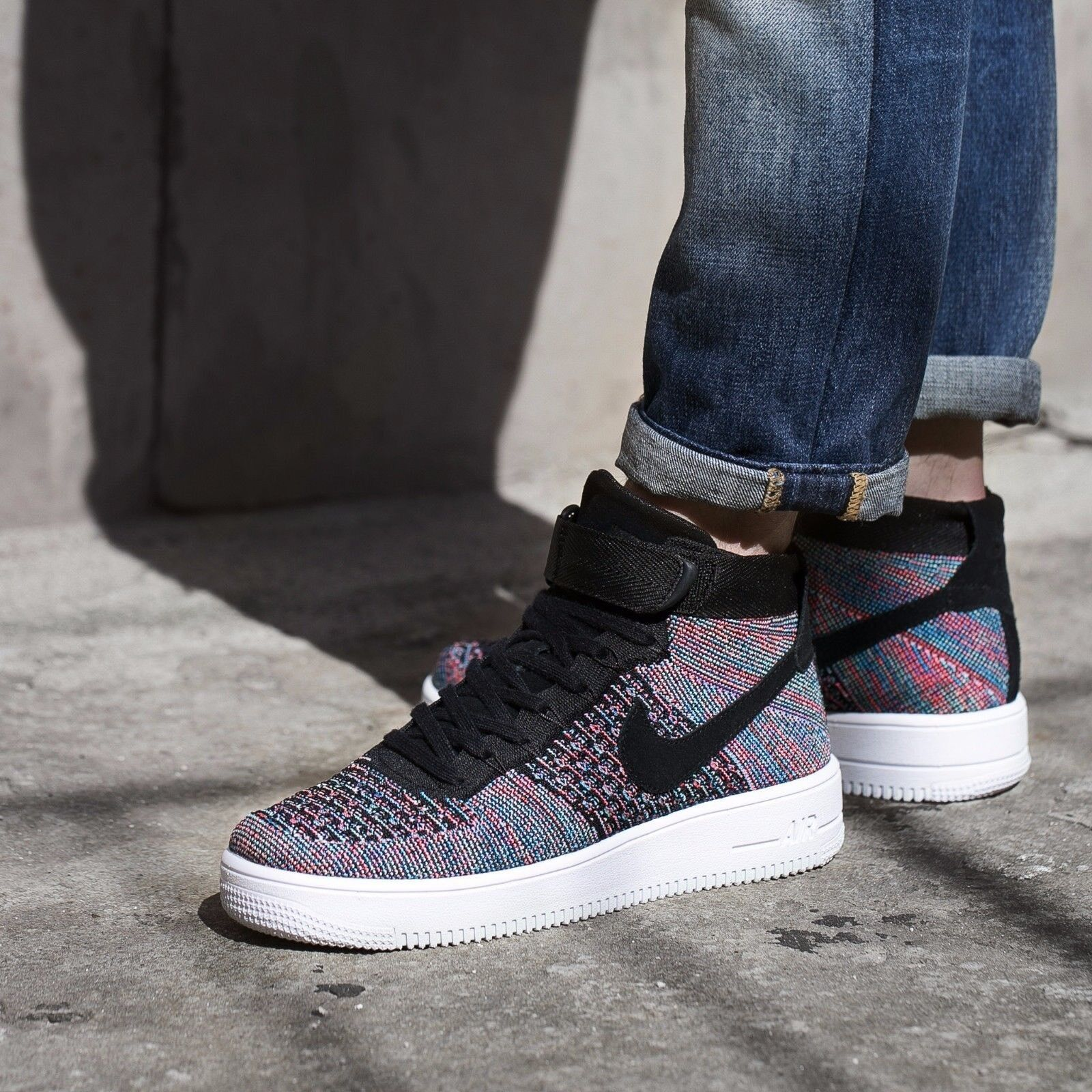 9c9c680c23b1 NIKE AIR FORCE 1 ULTRA FLYKNIT HOT PUNCH 602 RARE COLOR MEN S SHOES ...