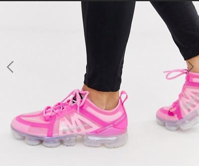 Nike Air Vapormax 2019 Scarpe da ginnastica da donna rosa psichica Argento UK 4 US 6.5 EU 37.5 | eBay