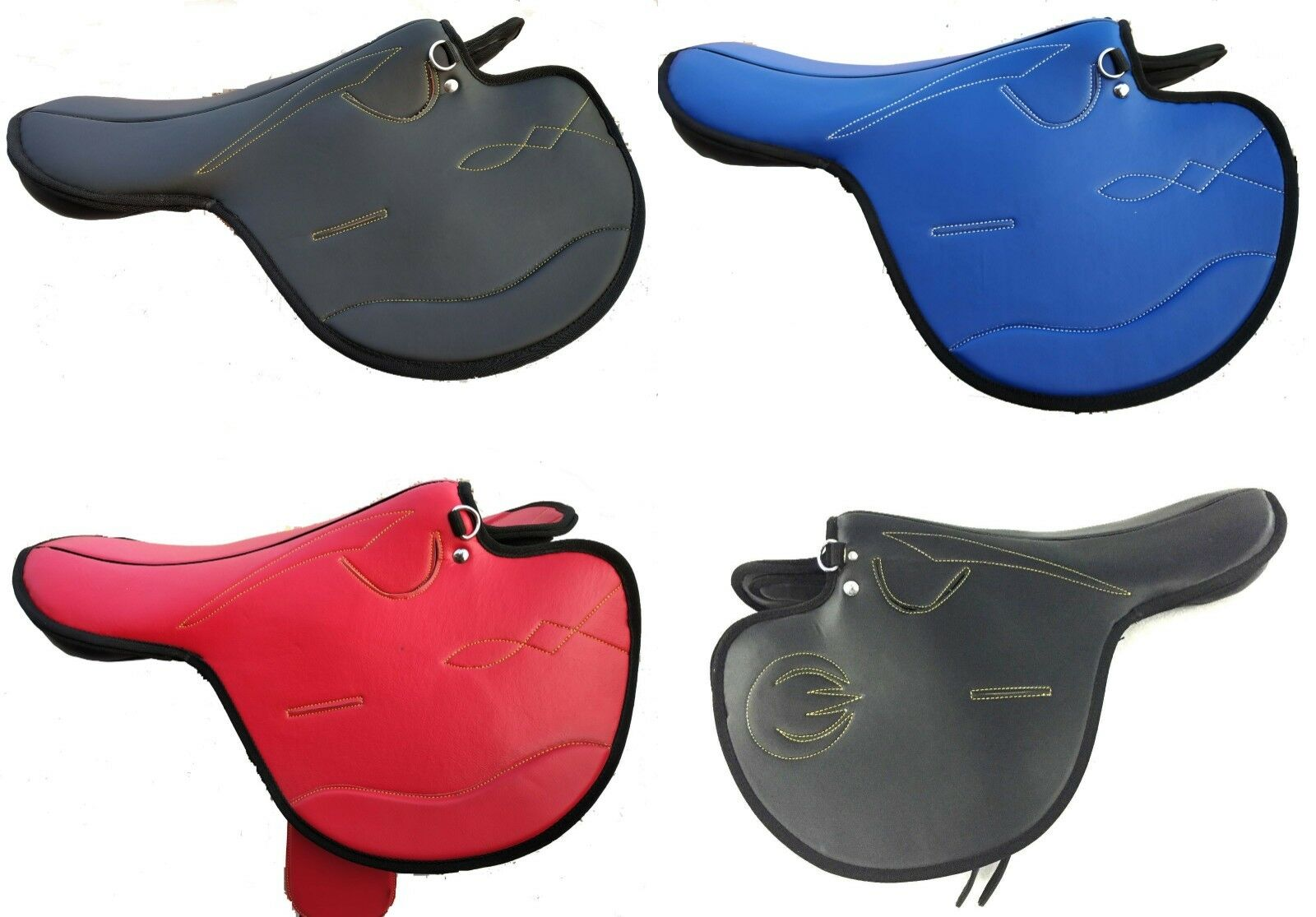 International Quality Synthetic Race Exercise Horse Saddle New Racing Best