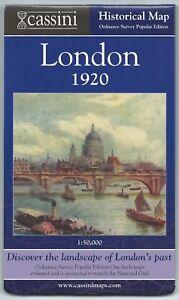 LONDON-1920-Historical-Ordnance-Survey-Map-Cassini-Publisher-modern-reproduction
