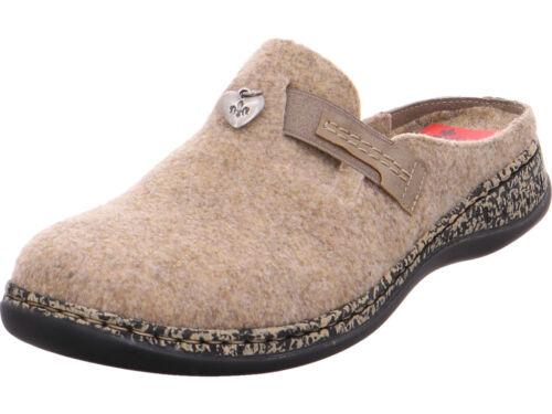 Slipper Ladies Marron Pantoufles Sandals Rieker Cx1wUnqP8