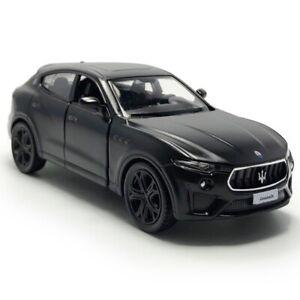 1:36 Maserati Levante GTS SUV Model Car Diecast Toy Vehicle Kids Matte Black
