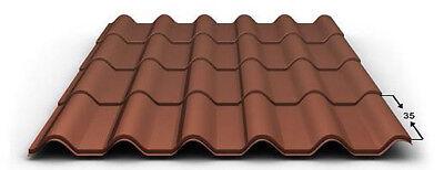 Pflichtbewusst Trapezblech Mattaldach,blechdapfannen Taille Und Sehnen StäRken Trapetzbleche Profilbleche Dachplatten
