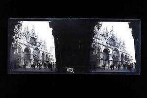 Venice Venezia Italia Placca Jack Stereo Negativi 45x107mm