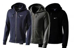 Nike-Chaqueta-de-entrenamiento-Club-Lleno-zip-hoody-con-Capucha-Informal