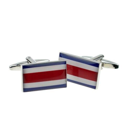 Bandera de Costa Rica Gemelos presentado en una caja x 2 bocf 083