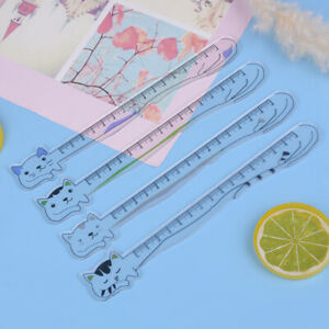 Cat-Stationery-Ruler-Acrylic-Ruler-Cute-Kawaii-AnimalDrawing-Straight-RuleLDU