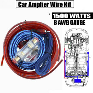 audio amplifier wiring 8 ga gauge amplifier power wire wiring kit 1500w watt amp car audio amplifier with wifi wire wiring kit 1500w watt amp
