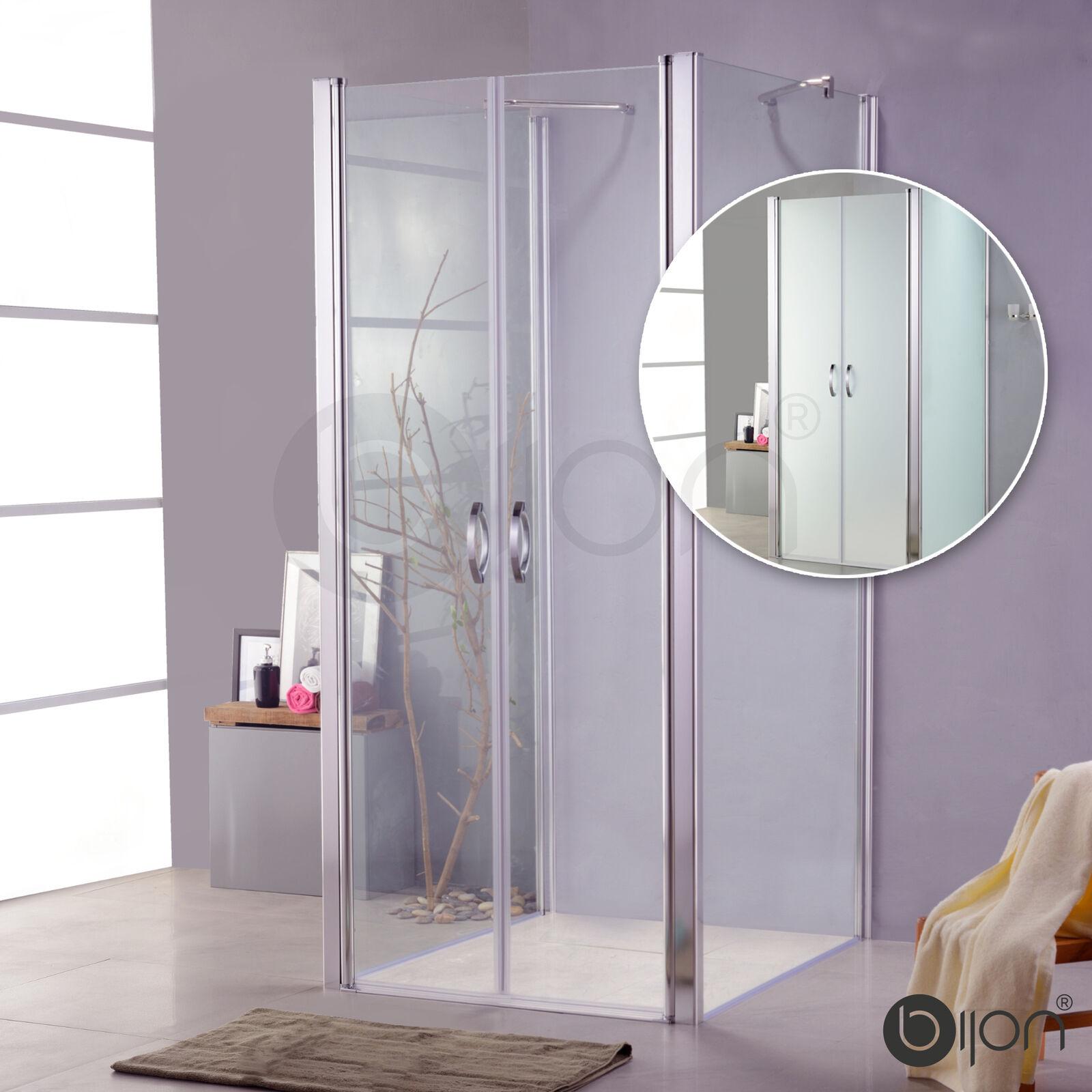 Glas Duschkabine mit Pendeltür Duschabtrennung U-Form Dusche U-Dusche Duschwand