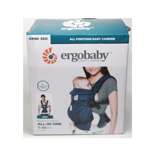 New In Box.Hello Kitty Ergobaby Omni 360 Baby Carrier Blue