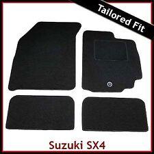 Suzuki SX4 Mk1 2006-2014 1-eyelet Tailored Fitted Carpet Car Floor Mats BLACK