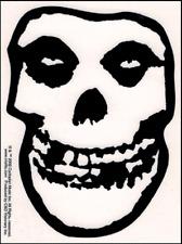 15782 Misfits Crimson Ghost Skull Transparent Punk Rock Horror Sticker / Decal