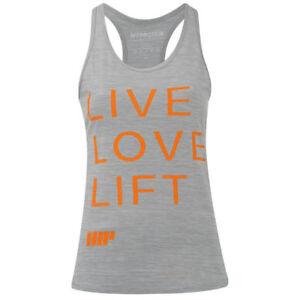 Myprotein-Mujer-Performance-Eslogan-Camiseta-Tirantes-Gris-claro-MY-Proteina