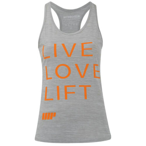 MyProtein Damen Performance Slogan Tank Top grau hellgrau Shirt My Protein Topp
