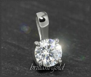 Brillant-585-Gold-Anhaenger-Diamant-Silitaer-mit-0-28ct-Damenanhaenger-NEU