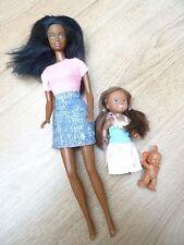 Barbie Doll Nero + Bambino & sorella maggiore Bundle famiglia bambola
