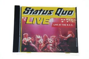 STATUS-QUO-LIVE-AT-THE-N-E-C-CD-Album-Complete-VG-Condition