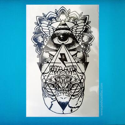 Eye Of God Freemasons Illuminati Egyptian Pyramid Mason Skull Illuminati Tattoo Ebay