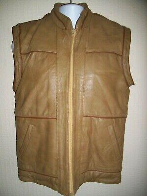 Inventivo Uomo In Pelle Vintage Marrone Chiaro Gillet Su Misura Made In The 80s-