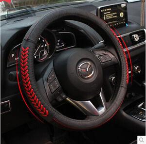 fit for 2013 2015 mazda 3 axela steering wheel glove leather cover ebay. Black Bedroom Furniture Sets. Home Design Ideas